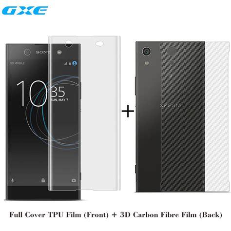 Sony Xperia Xa1 Carbon Back Screen Guard Protector Anti Murah front screen protector 3d soft carbon fibre back not