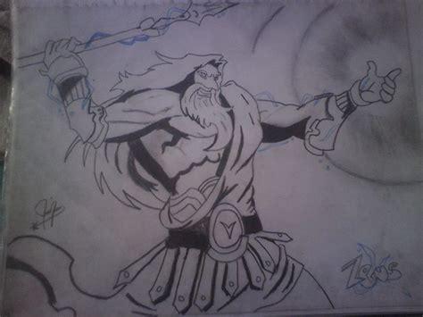 imagenes de dios zeus para dibujar el poderoso zeus por alexander1990 dibujando