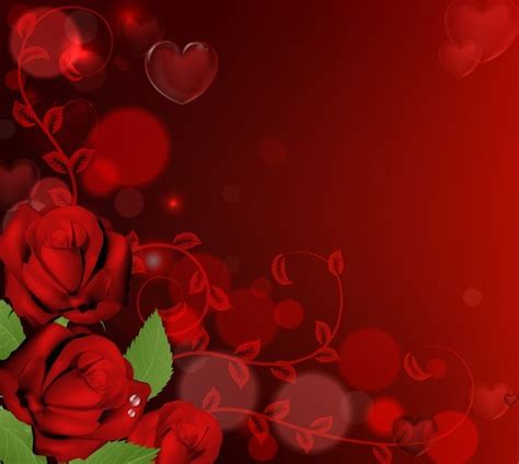 background design red rose free vector red roses with heart background titanui