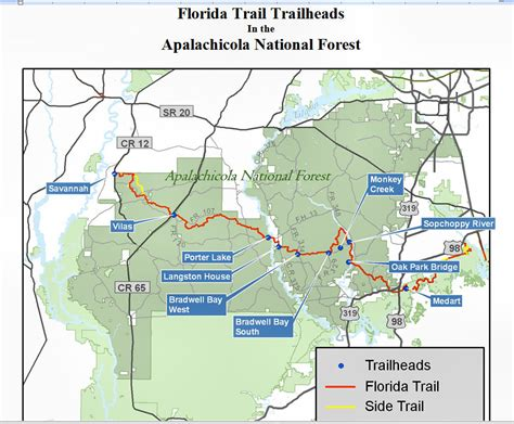 florida trail map apalachee chapter 187 hiking backpacking 101