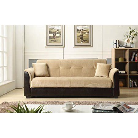 futon express nhi express melanie futon sofa bed with storage brown