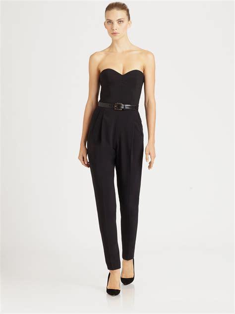 Who Wore It Better Michael Kors Black Strapless Jumpsuit by Lyst Michael Kors Strapless Jumpsuit In Black