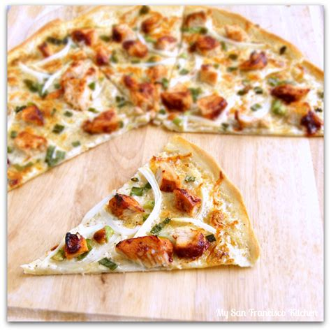 pizza with in crust thin crust bbq chicken pizza my san francisco kitchen