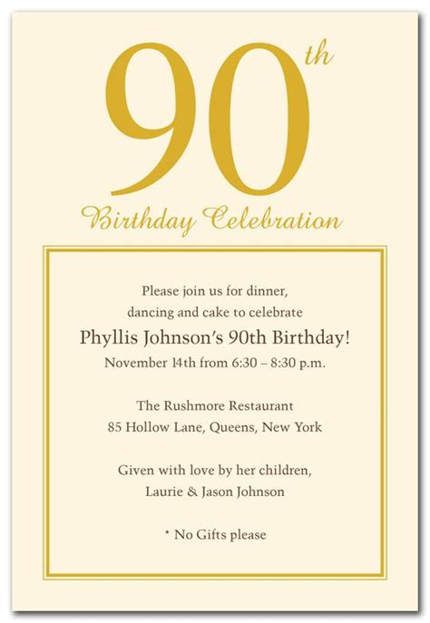 sle invitations for birthday 90th birthday invitation templates free 28 images 15 90th birthday invitations tips sle