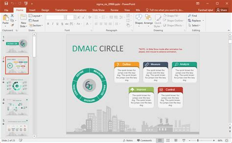 Animated Six Sigma Powerpoint Template Dmaic Template
