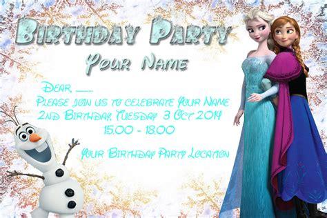 happy birthday frozen design frozen birthday party invitation card by libraartdesign
