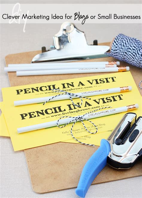 Diy Small Home Business Pencil In A Visit Promotion Live Laugh Linky 109 Live