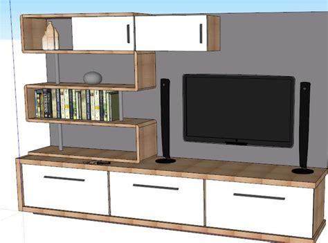mueble  tv  skp model  sketchup designs cad