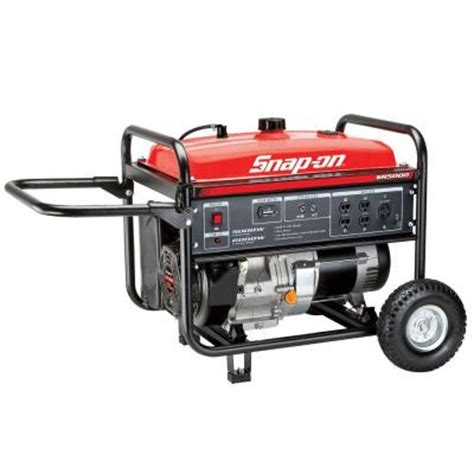 snap on 5 000 watt gasoline powered portable generator