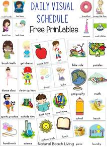 daily visual schedule for kids free printable natural