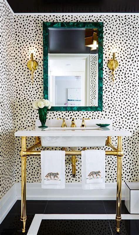wallpaper powder room a patterned powder room alice lane home interior design
