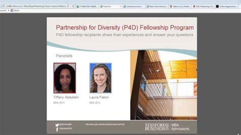 Mba Diversity Fellowship Program by Stanford Mba Program Partnership For Diversity