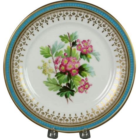 beautiful plates beautiful circa 1860 hand painted porcelain plate by