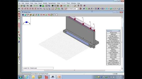 risa section foundation design including retaining walls youtube