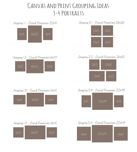 canvas layout ideas canvas and print grouping ideas with crabapple photography