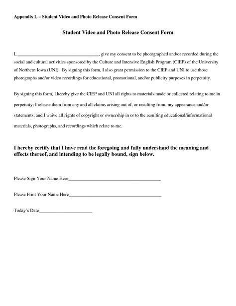 Copyright Release Letter Photography Template best photos of photo release form template photography