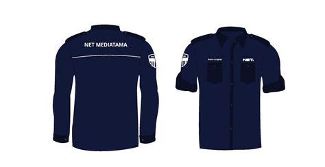 desain seragam net tv warna blue navy vektor format