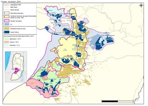 jerusalem israel map reinforcing the existence in east jerusalem poica