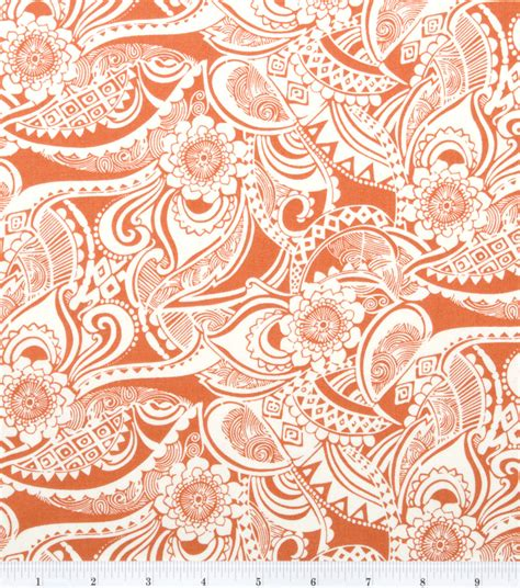Calico Upholstery by Keepsake Calico Fabric Floral Orange At Joann