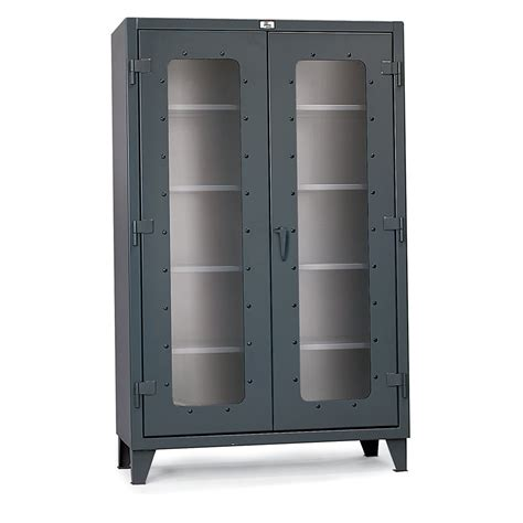 Strong Hold Cabinet by Strong Hold Ultra Capacity Clear View Cabinet 48x24x66