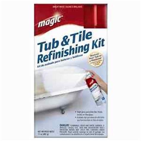 bathtub refinish kit magic renew tub amp tile refinishing kit bright white