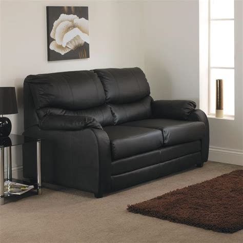 Black Faux Leather Sofa Bed by Nebraska Black Faux Leather Sofa Bed