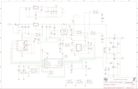tattoo power supply schematic custom machine power supply hackster io