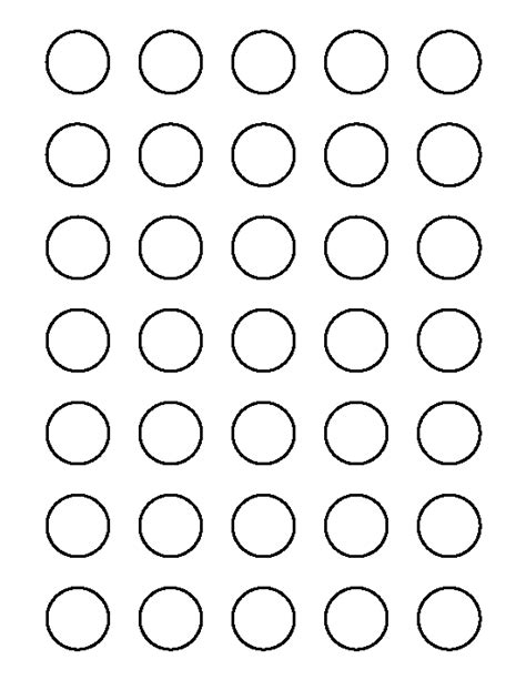 printable 1 inch circle template