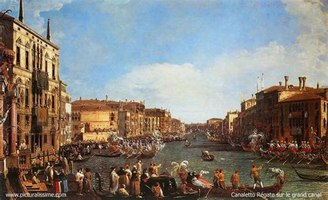 libro canaletto and the art canaletto regatta on the grand canal