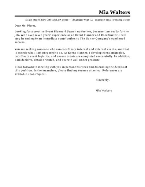 event manager cover letter how to format cover letter