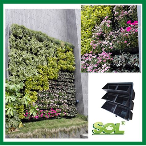 plastic retaining wall vertical garden wall planter