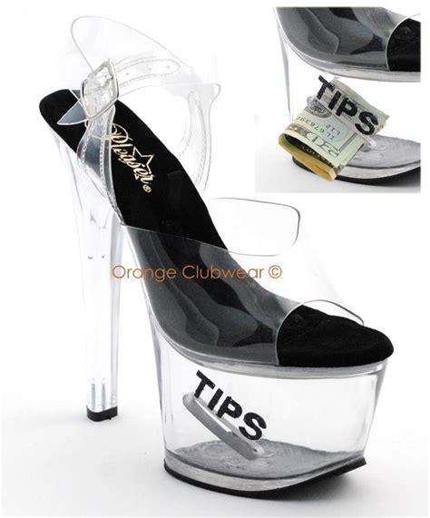 pleaser high heel tip jar platform shoes ebay