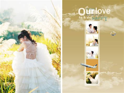 wedding psd templates free wedding photography psd template material free vector