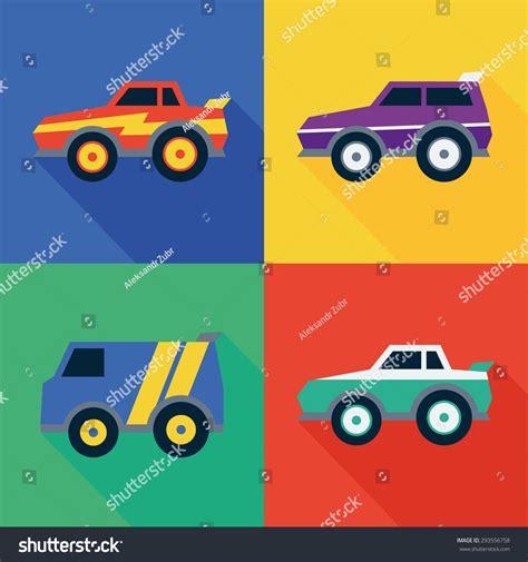 street racing design elements vector icons street racing cars flat design stock vector