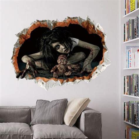 Harga Me 20b 3d sticker kamar tidur ruang tamu rumah hantu