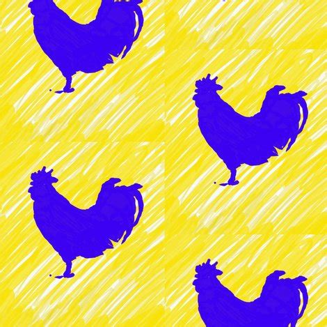 blue rooster fabric millcitytextiles spoonflower