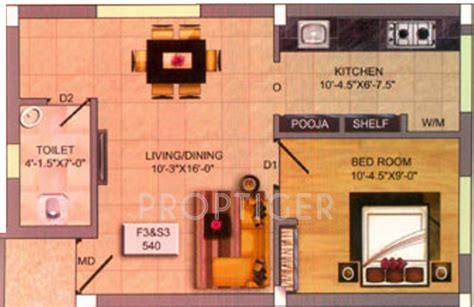540 sq ft floor plan 540 sq ft 1 bhk floor plan image infraz heavenz