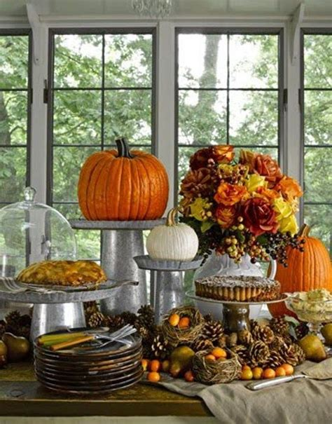 thanksgiving buffet table falling for autumn pinterest