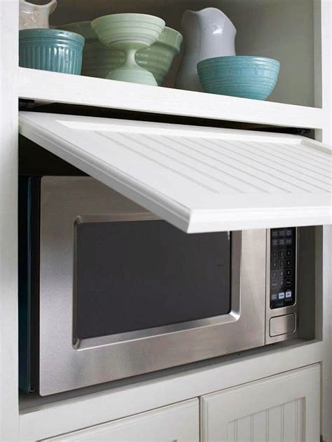 microwave hideaway cabinet for the home pinterest hidden microwave for the home pinterest