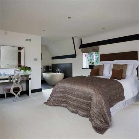 open plan bedroom and bathroom designs open plan modern bedroom sleek interior designs bed