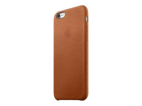 apple iphone  leather case saddle brown ebuyercom