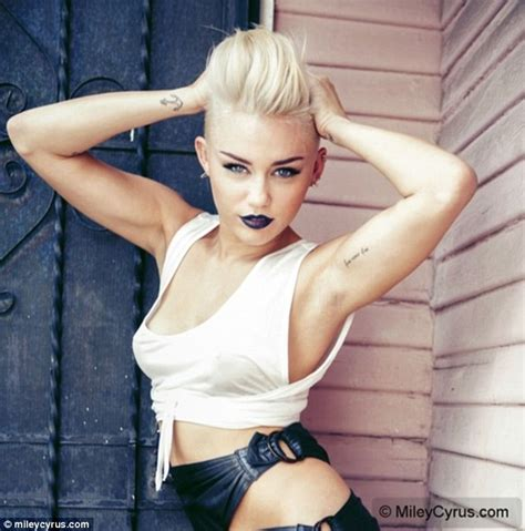 Backyard Band Songs Miley Cyrus Models Her Platinum Punk Quiff And Goes Hell