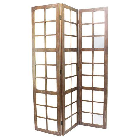 7ft room divider mirror 7 ft brown 3 panel room divider sg 242 the home