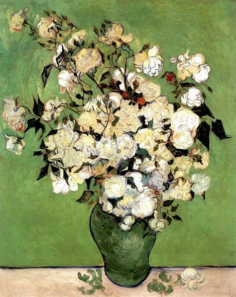 a vase of roses vincent gogh wikiart org