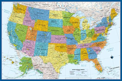interactive political map usa ebook2 usa political wall wall map by graphiogre united