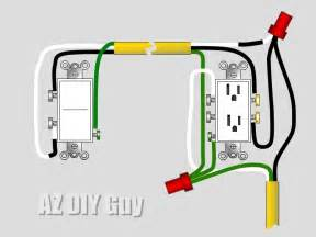 how to wire a split switched outlet by az diy guy s