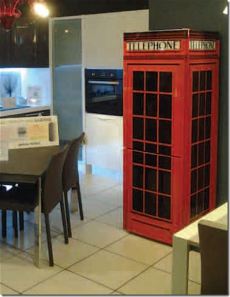 cabina telefono inglese idea regalo frigorifero decorato non mobili
