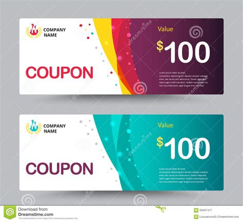 graphic design gift card template gift voucher coupon template design for special time