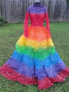 Rainbow wedding dresses for modish women designers outfits