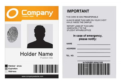 free id card template optimus 5 search image employee id template free